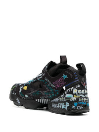 VETEMENTS MEN GRAFFITI INSTAPUMP SNEAKERS