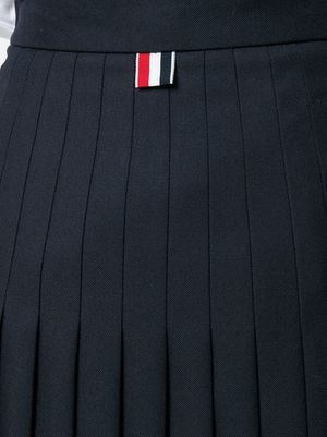 THOM BROWNE WOMEN BELOW KNEE MACHINE PLEATED SKIRT IN SCHOOL UNIFORM TWILL