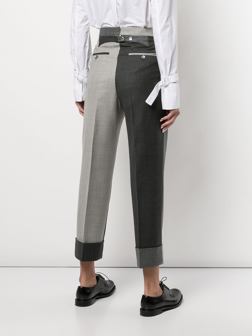 THOM BROWNE WOMEN HIGH WAIST SINGLE PLEAT TROUSER - FIT 4 - IN SUPER 120'S TWILL FUNMIX