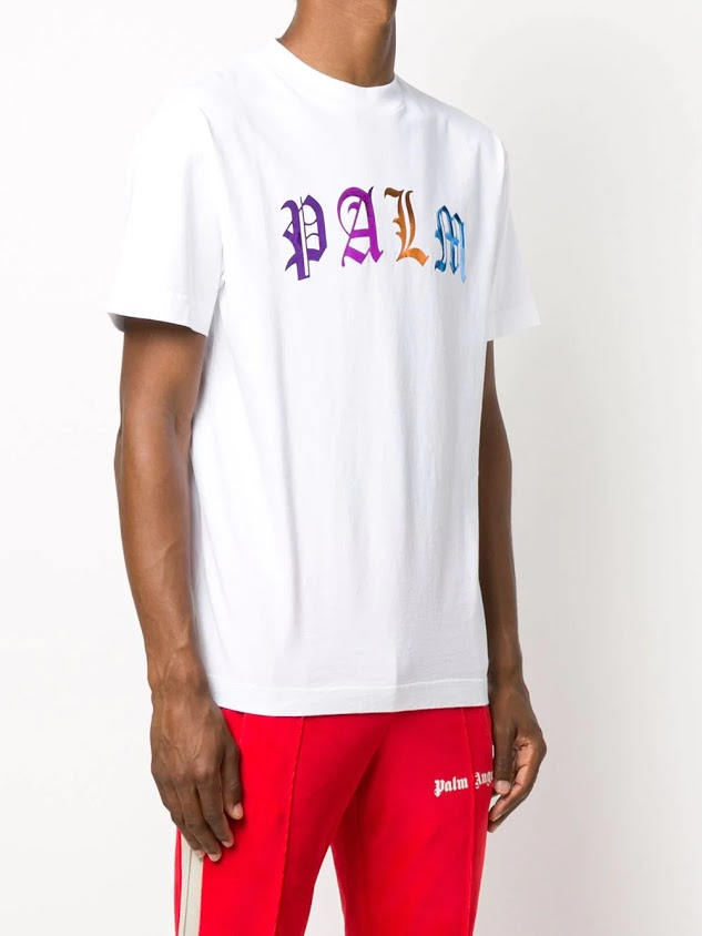 PALM ANGELS MEN GOTHIC LOGO TEE
