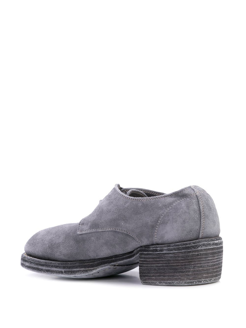 GUIDI WOMEN 792Z BABY CALF REVERSE LEATHER DERBY