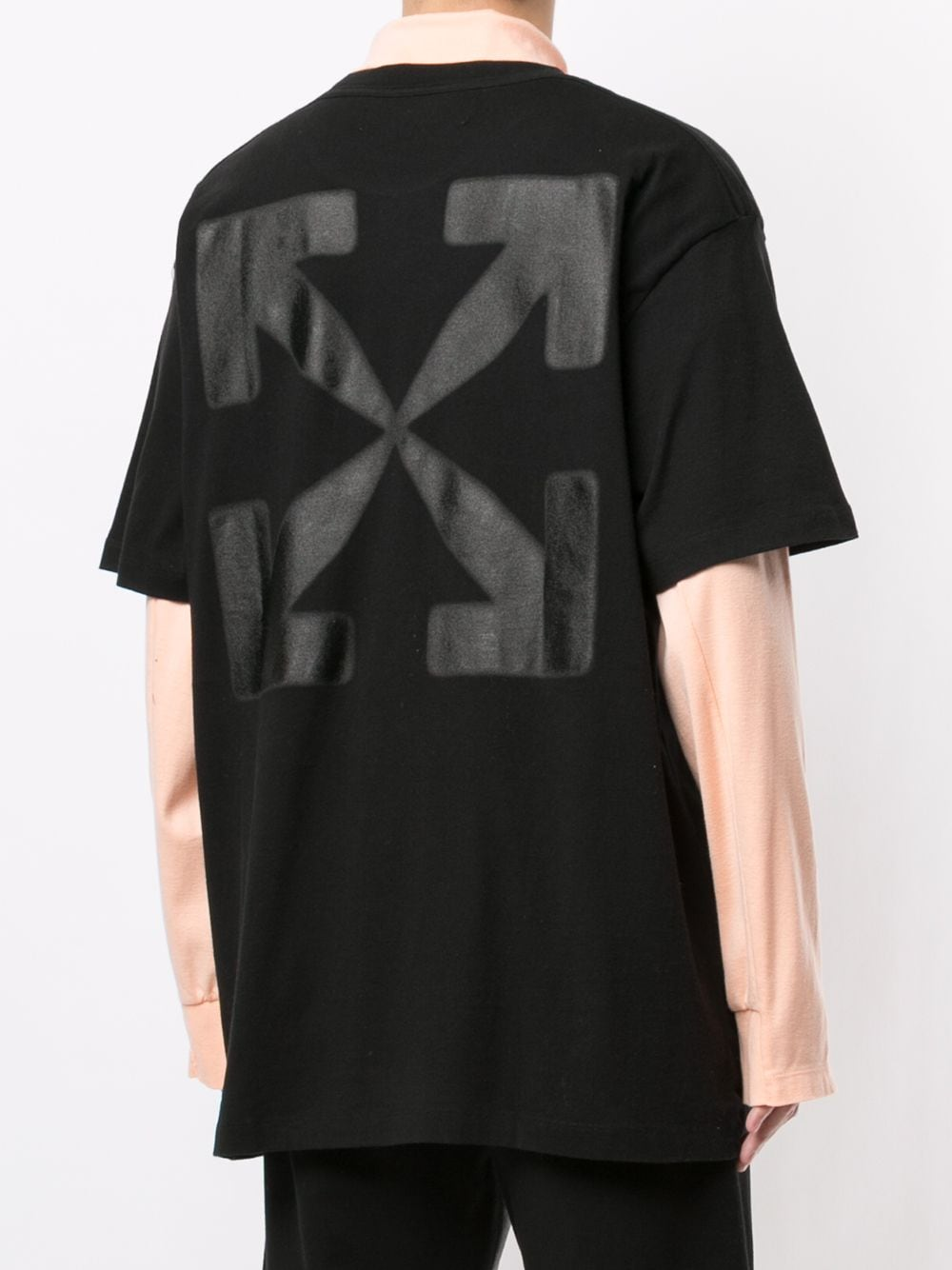 OFF-WHITE MEN BLURRED CARAVAG S/S OVER TEE