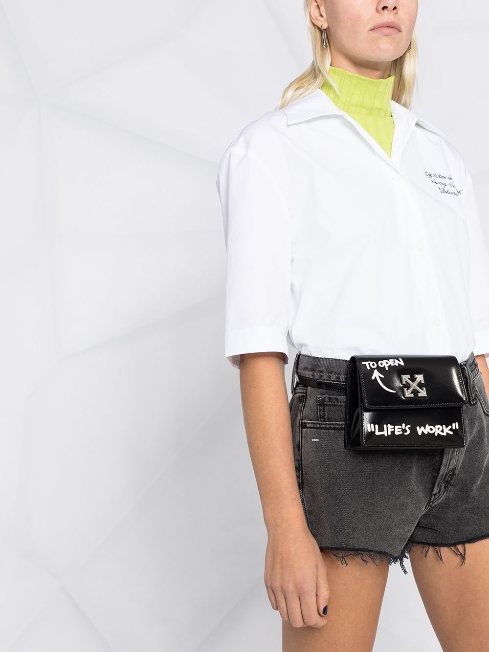 OFF-WHITE WOMEN POPELINE BASEBALL SHIRT