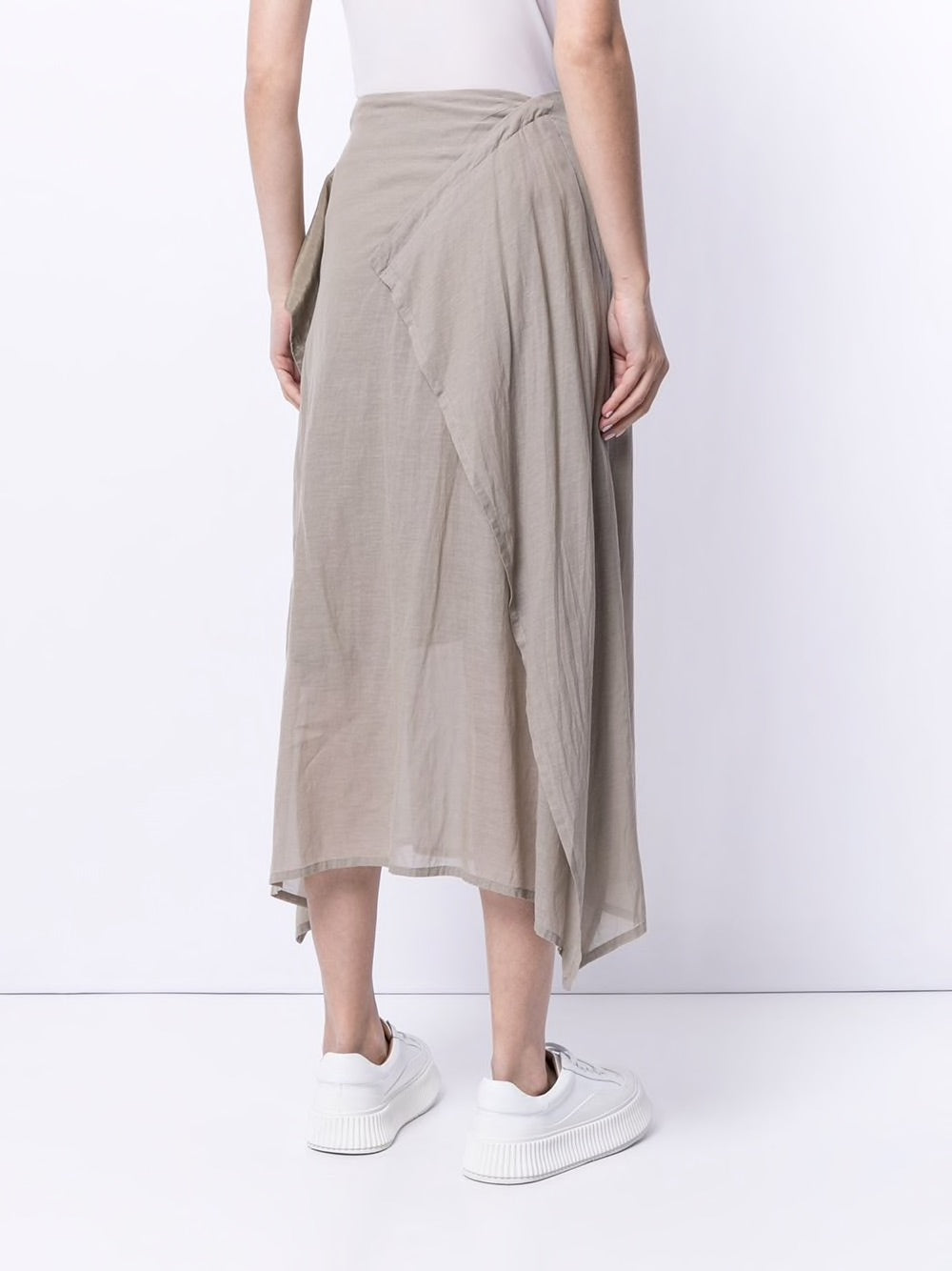 Y'S WOMEN WRAPPING FLARE SKIRT