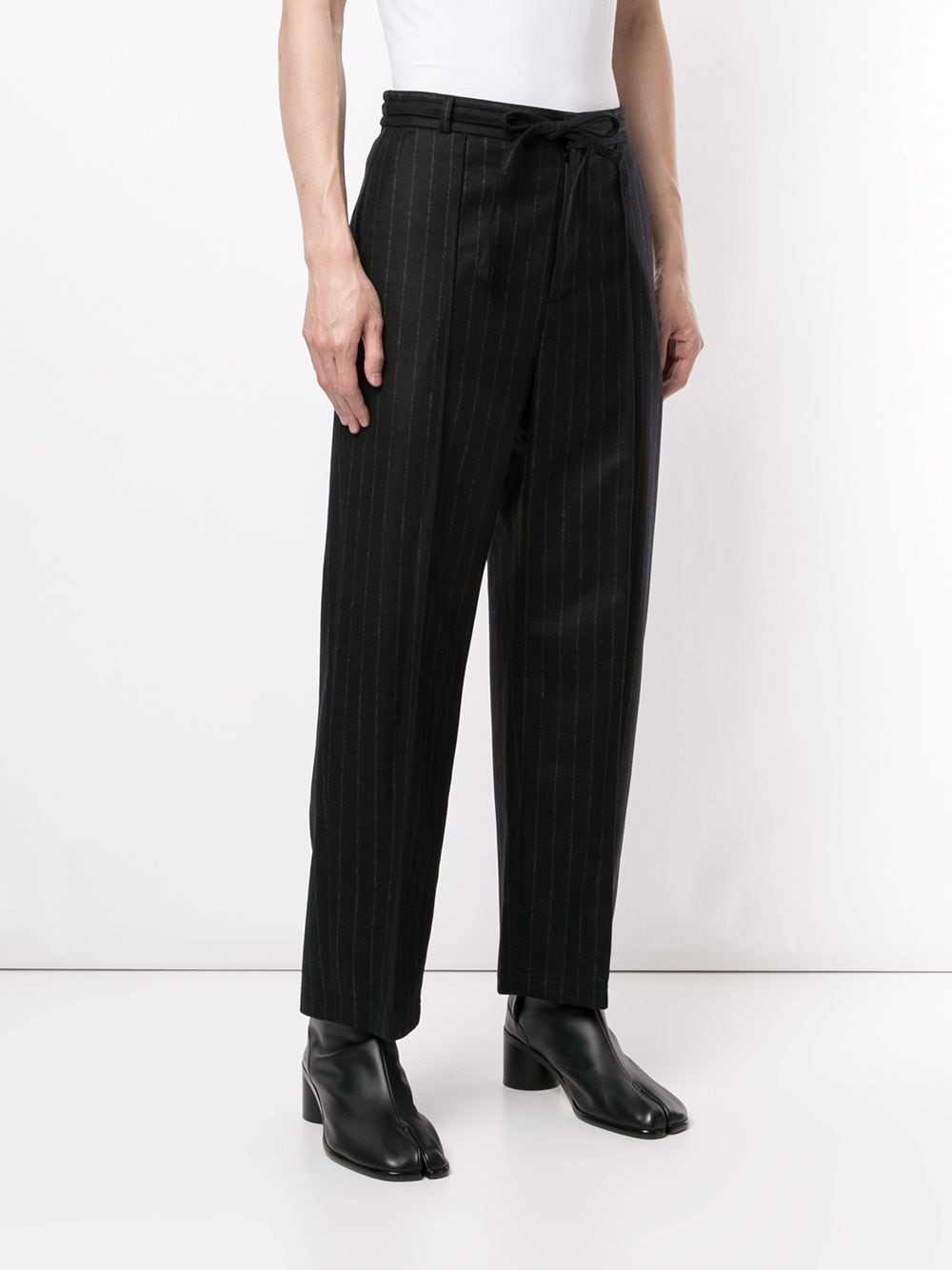 MAISON MARGIELA MEN WOOL PINSTRIPE PANTS