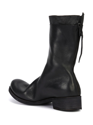 MA+ MEN YAK LEATHER BACK ZIPPED TALL EXTRA BOOT WITH EX HEEL