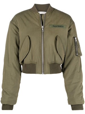 PALM ANGELS WOMEN MILITARY BOMBER JACKET
