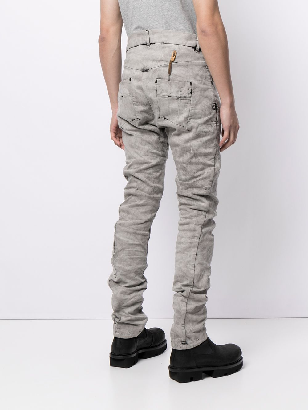 BORIS BIDJAN SABERI MEN P13 TIGHT FIT ACID DYED PANTS