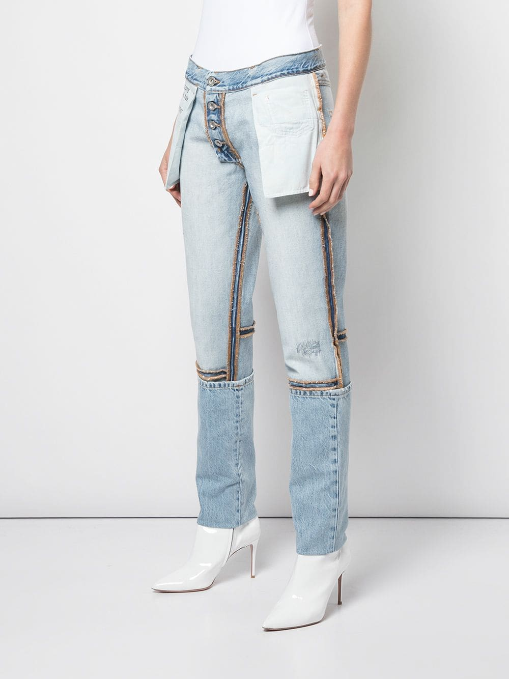 UNRAVEL PROJECT WOMEN STONE 10 DOUBLE REV BOY SKINNY DENIM