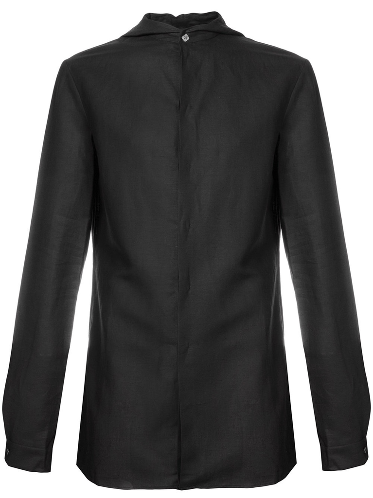 MA+ MEN HOODED FITTED SHIRT