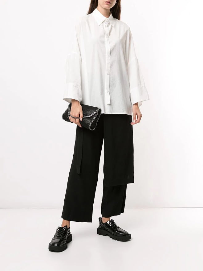 Y'S WOMEN DRAPE OVER WIDE PANTS