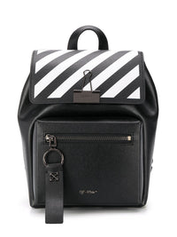 OFF-WHITE WOMEN DIAG BINDER BACKPACK BLACK WHITE