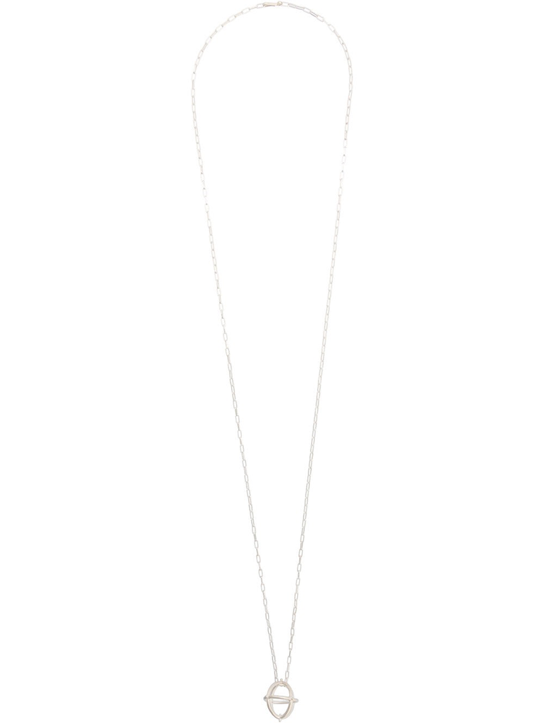 MA+ MEDIUM + GLOBE NECKLACE WITH SILVER CHAIN