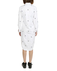 THOM BROWNE WOMEN CLASSIC L/S SHIRT DRESS