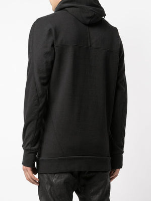 11 BY BORIS BIDJAN SABERI MEN BLACK DYE HOODIE H1B F-1235