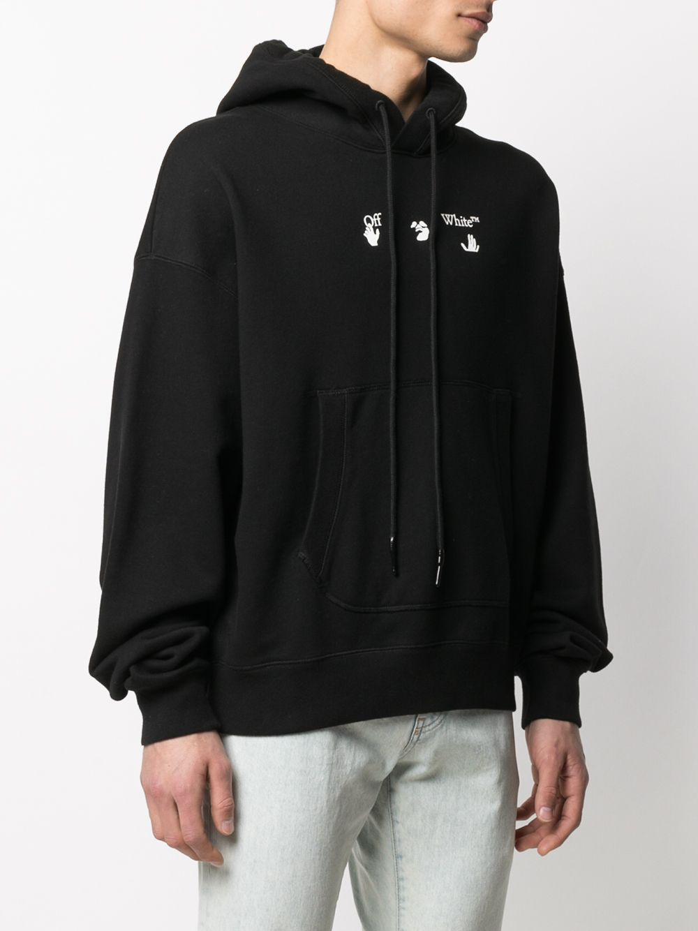OFF-WHITE MEN OFFF OVER FLATLOCK HOODIE