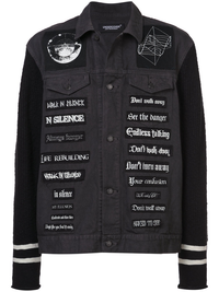 UNDERCOVER MEN BAND PATCHES DENIM JACKET