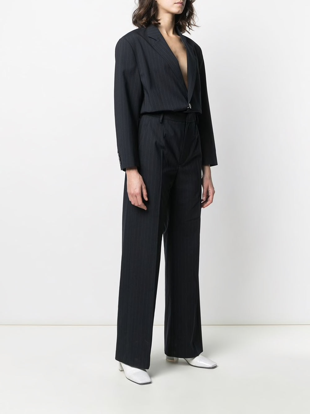 MM6 WOMEN PINSTRIPE SUIT JUMPSUIT