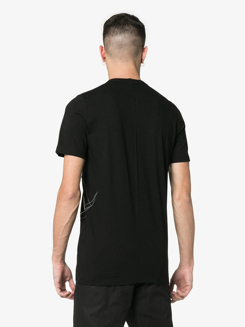 RICK OWENS MEN EMBROIDERED LEVEL TEE