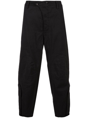 ZIGGY CHEN MEN KNEE PATCH CROPPED TROUSER