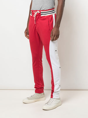 GREG LAUREN MEN RED BORG LONG PANTS