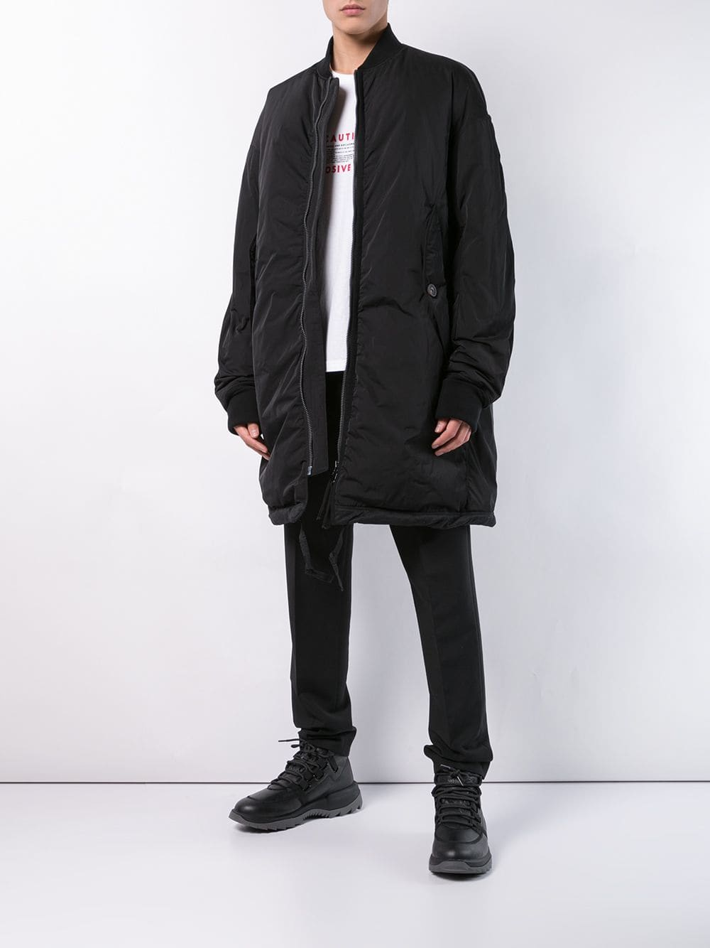 ZIGGY CHEN MEN DOWN BOMBER JACKET