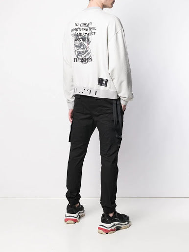 UNRAVEL MEN ETE SKULL TERRY OVER CREWNECK