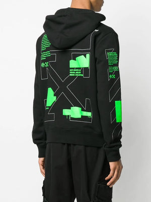 OFF-WHITE MEN ARCH SHAPES SLIM HOODIE