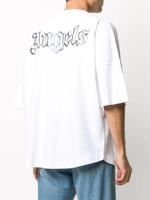 PALM ANGELS MEN BLANK LOGO OVER TEE