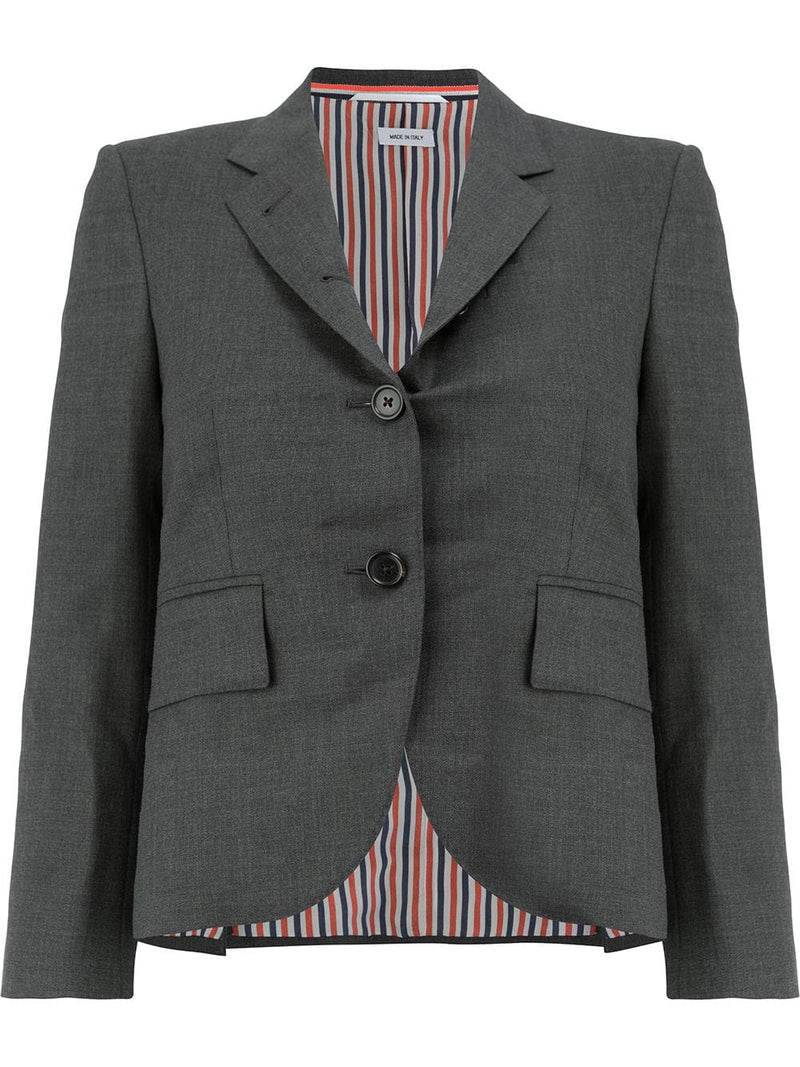 THOM BROWNE WOMEN CLASSIC SINGLE BUTTON BLAZER IN SUPER 120'S TWILL