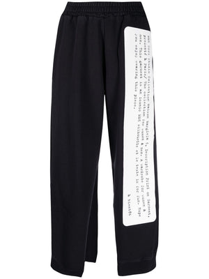 MM6 WOMEN PRINTED CUT OUT RAW EDGE TRACK PANTS