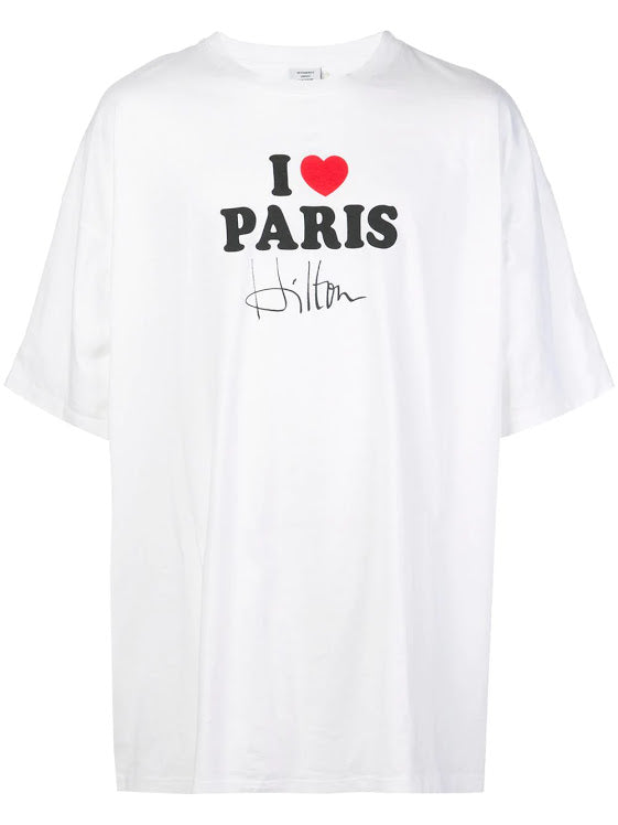 VETEMENTS UNISEX I LOVE PARIS T-SHIRT