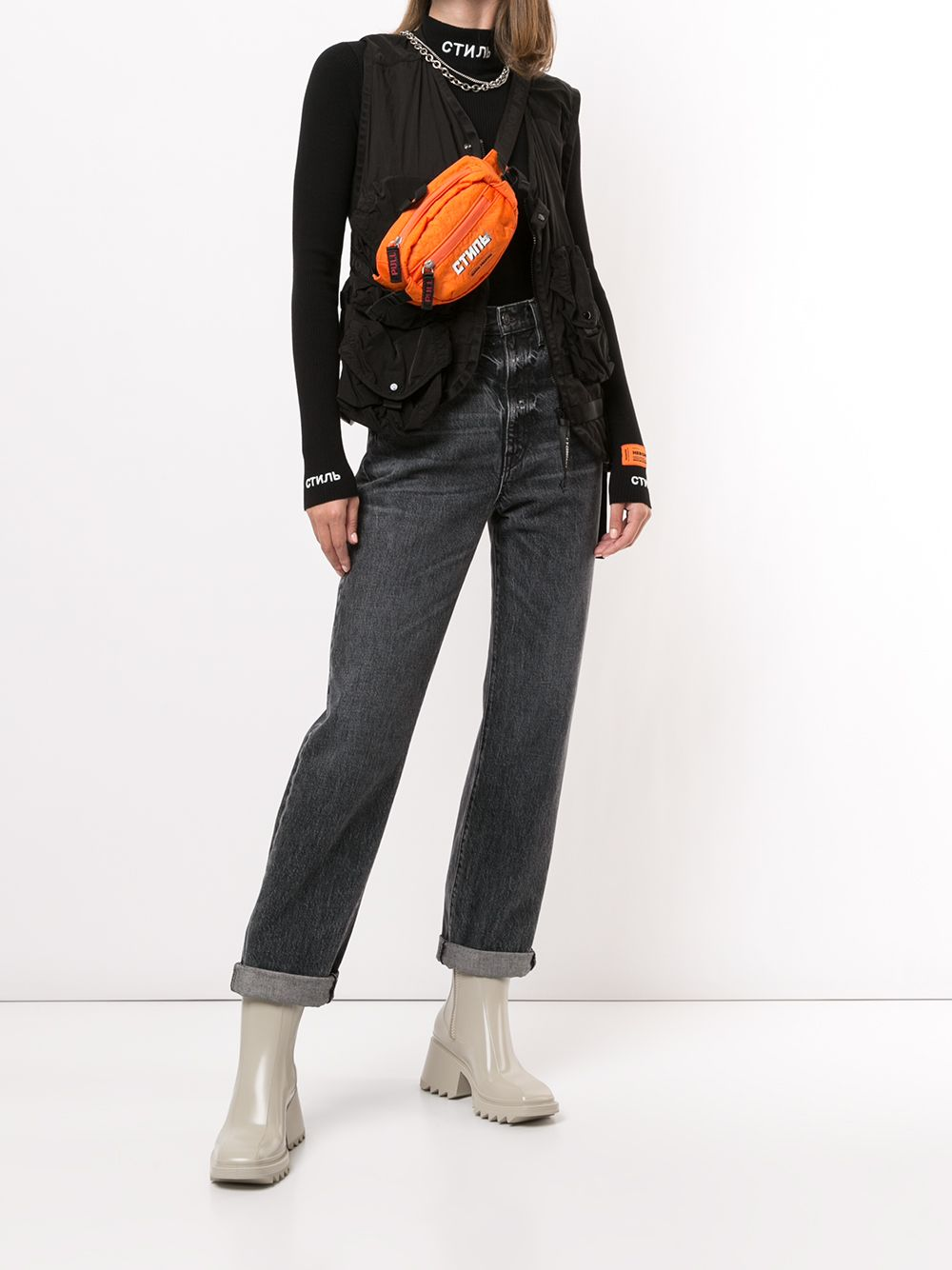 HERON PRESTON WOMEN KNIT CTNMB ROLL NECK TOP
