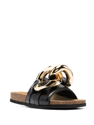 JW ANDERSON WOMEN CURB CHAIN SLIDES