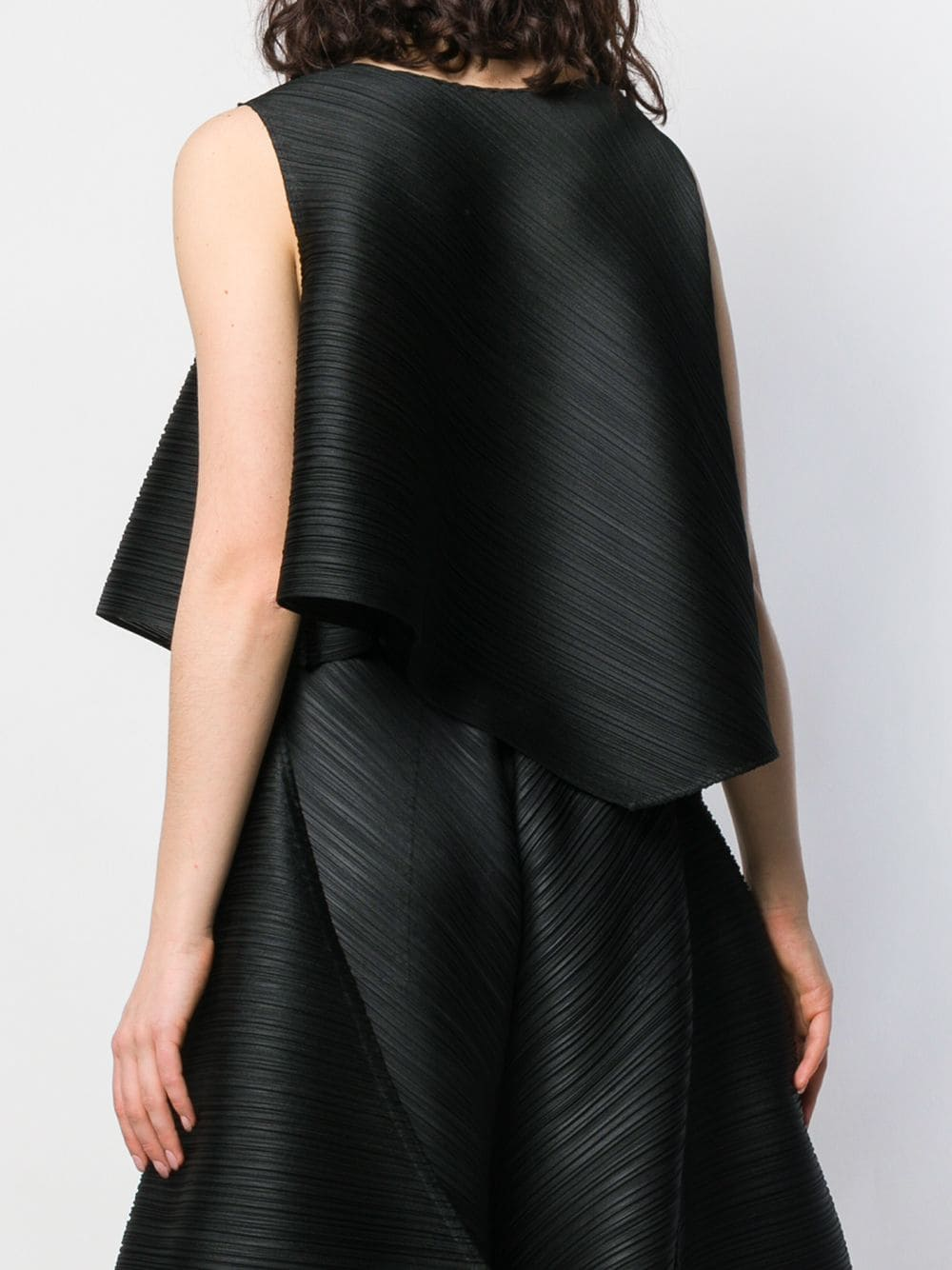 PLEATS PLEASE ISSEY MIYAKE WOMEN CROSS GRAIN TOP