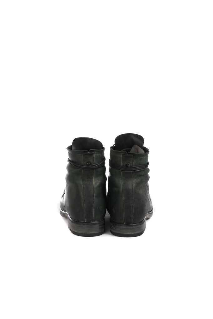 LAYER-0 MEN REVERSE HORSE CORDOVAN LEATHER TALL BOOTS