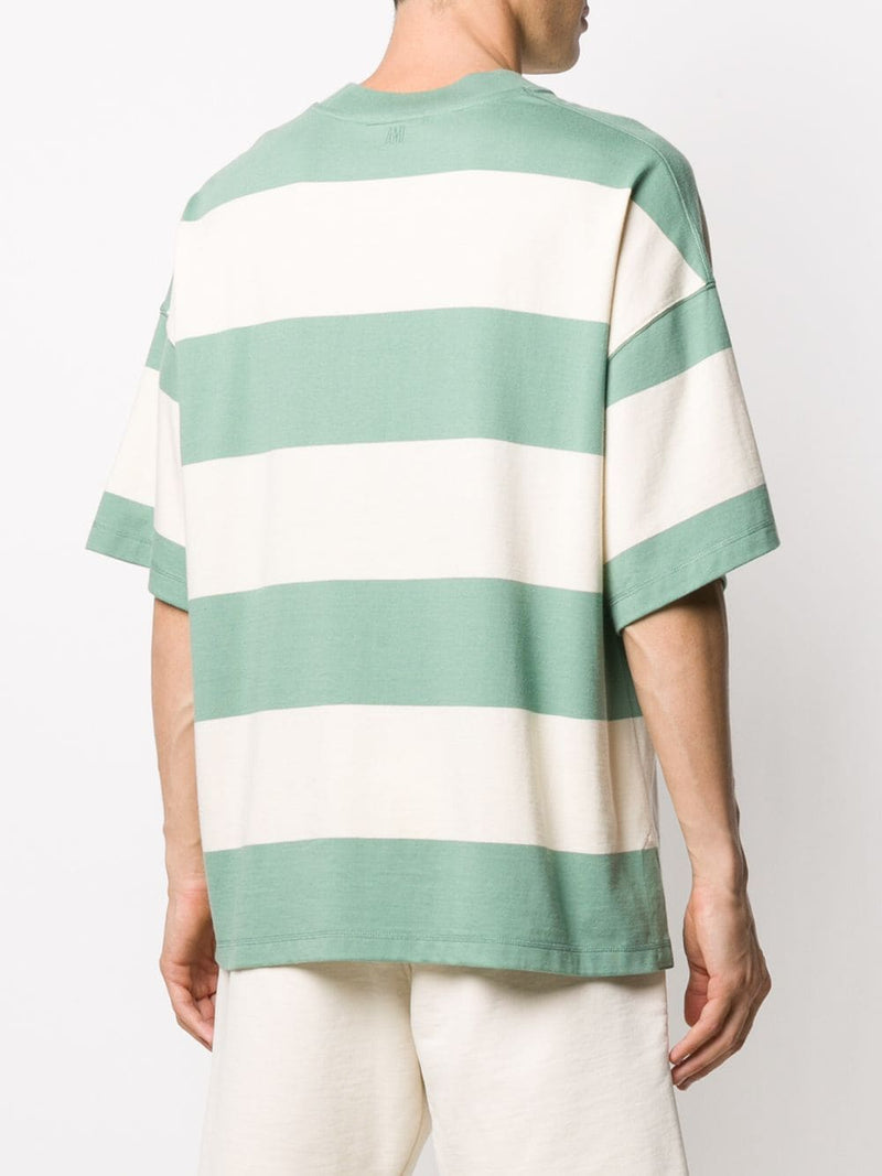 AMI UNISEX RUGBY STRIPED OVERSIZE T-SHIRT