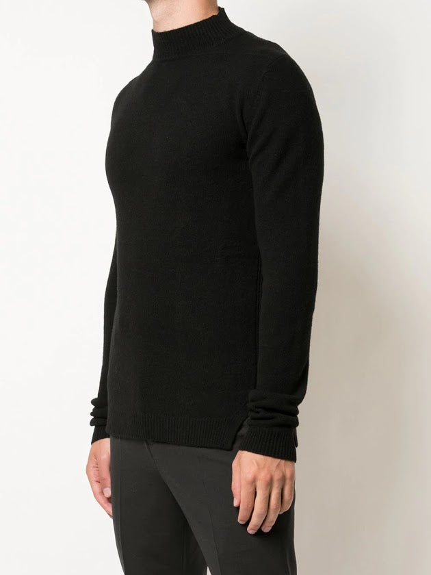 RICK OWENS MEN RECYCLED CASHMERE TURTLE NECK SWEATER