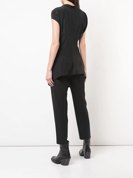 RICK OWENS WOMEN SIDE SNAPS T-SHIRT