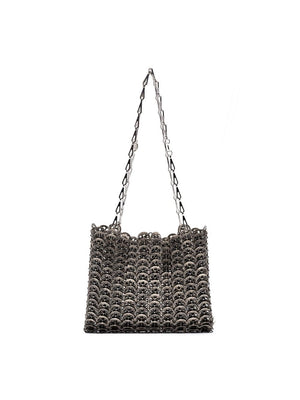 PACO RABANNE WOMEN 1969 ICONIC METTALIC DISC BAG