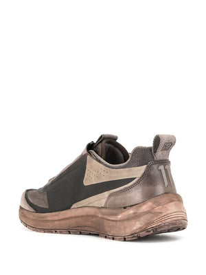 11 BY BORIS BIDJAN SABERI X SALOMON BAMBA 2 LOW SNEAKERS OBJECT DYED