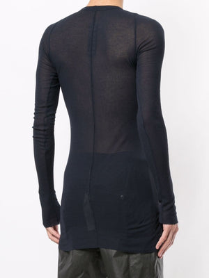 RICK OWENS MEN LONG SLEEVE RIB TEE