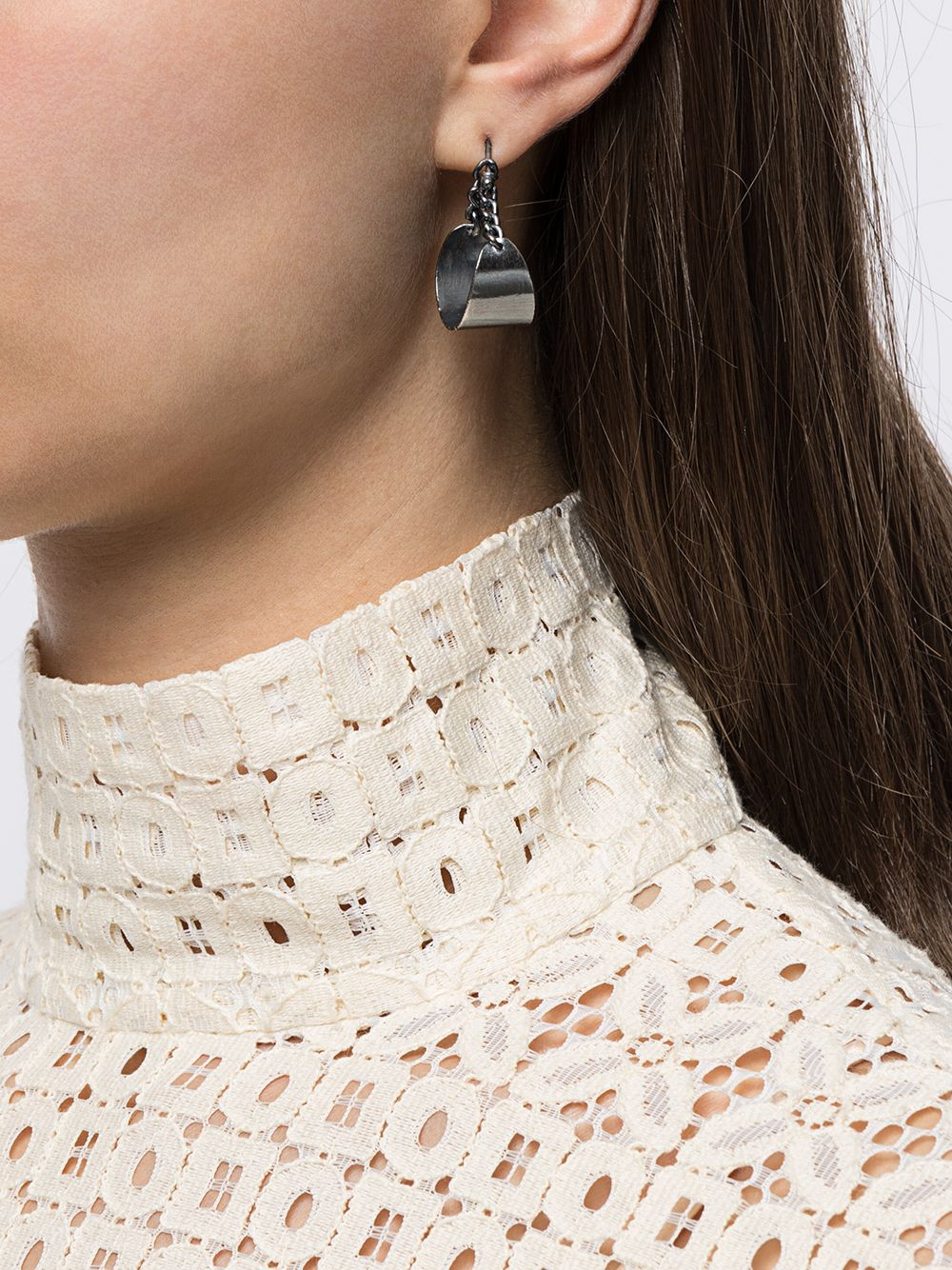 UMA WANG X DETAJ SMALL LUNA CHAIN EARRING