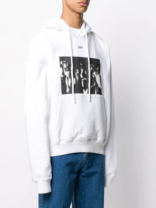 OFF-WHITE MEN SPRAY PAINTING OVER HOODIE