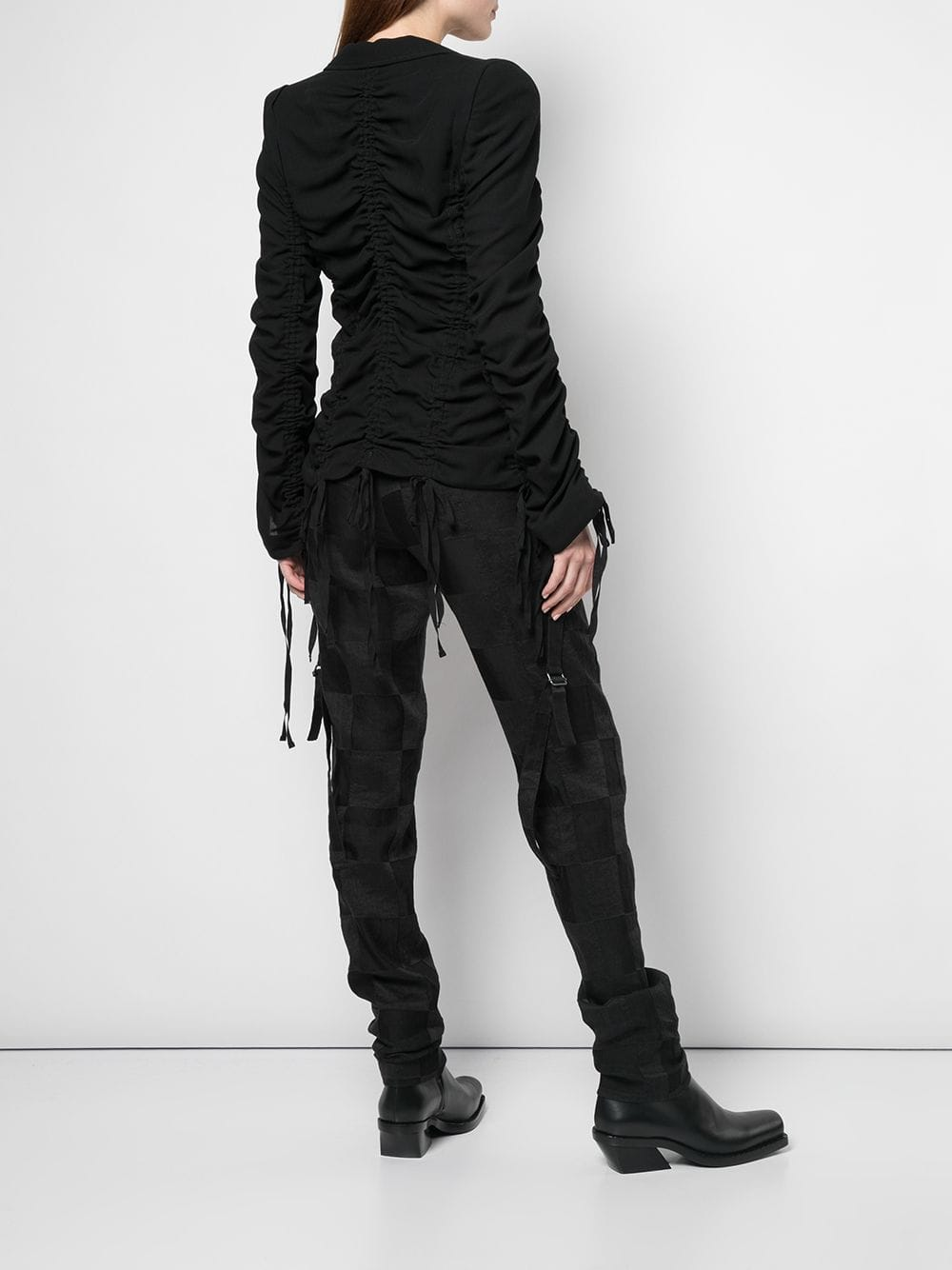 ANN DEMEULEMEESTER WOMEN RUCHED JACKET