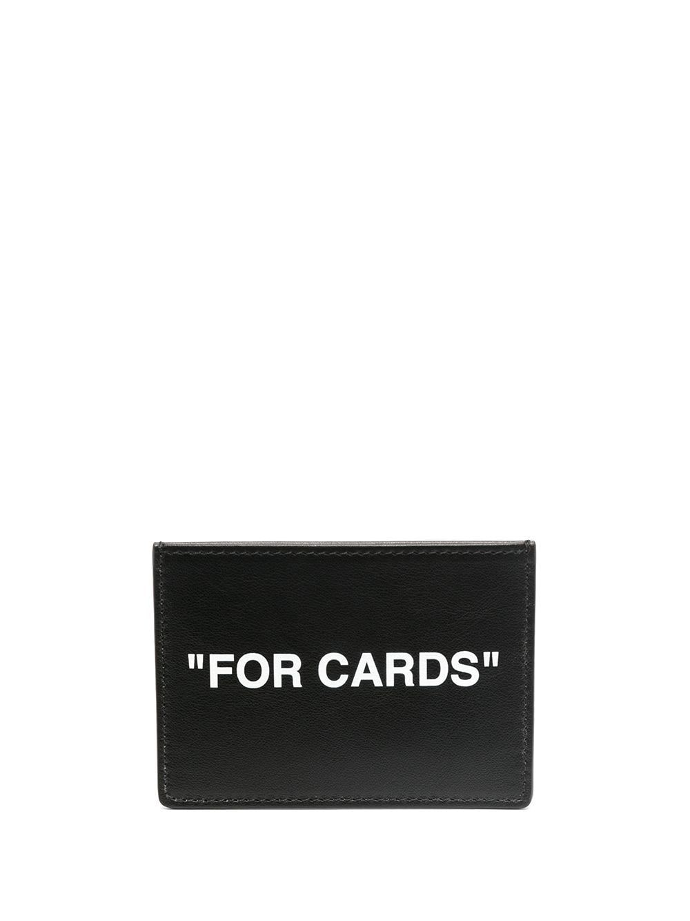 OFF-WHITE CALF SKIN QUOTE CARDHOLDER