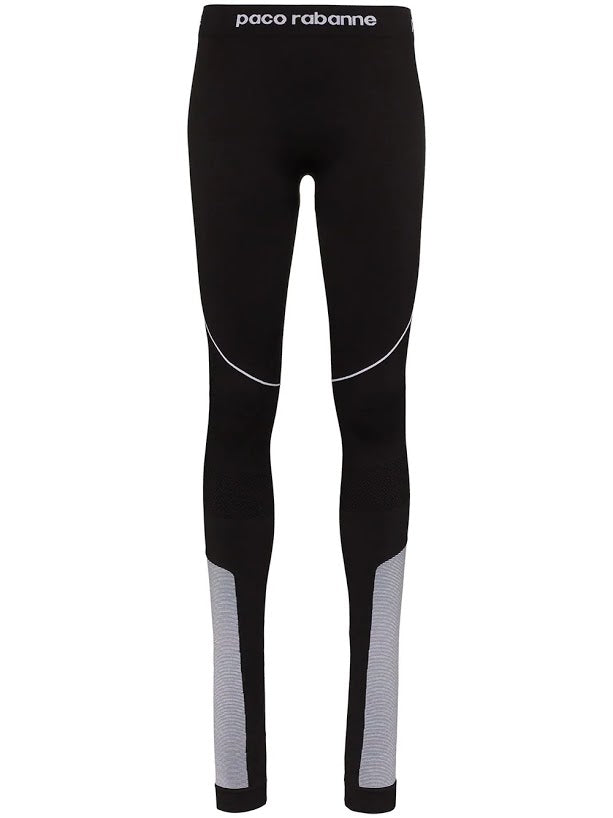 PACO RABANNE WOMEN TECHNICAL LEGGINGS