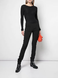 RICK OWENS WOMEN RIBBED ROUND KNIT SWEATER