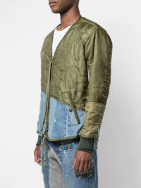 GREG LAUREN MEN 50/50 QUILTED LINER MODERN FLIGHT JACKET