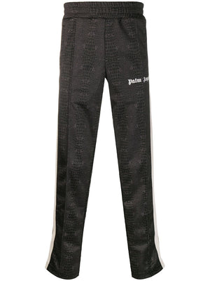 PALM ANGELS MEN CROCO TRACK PANTS